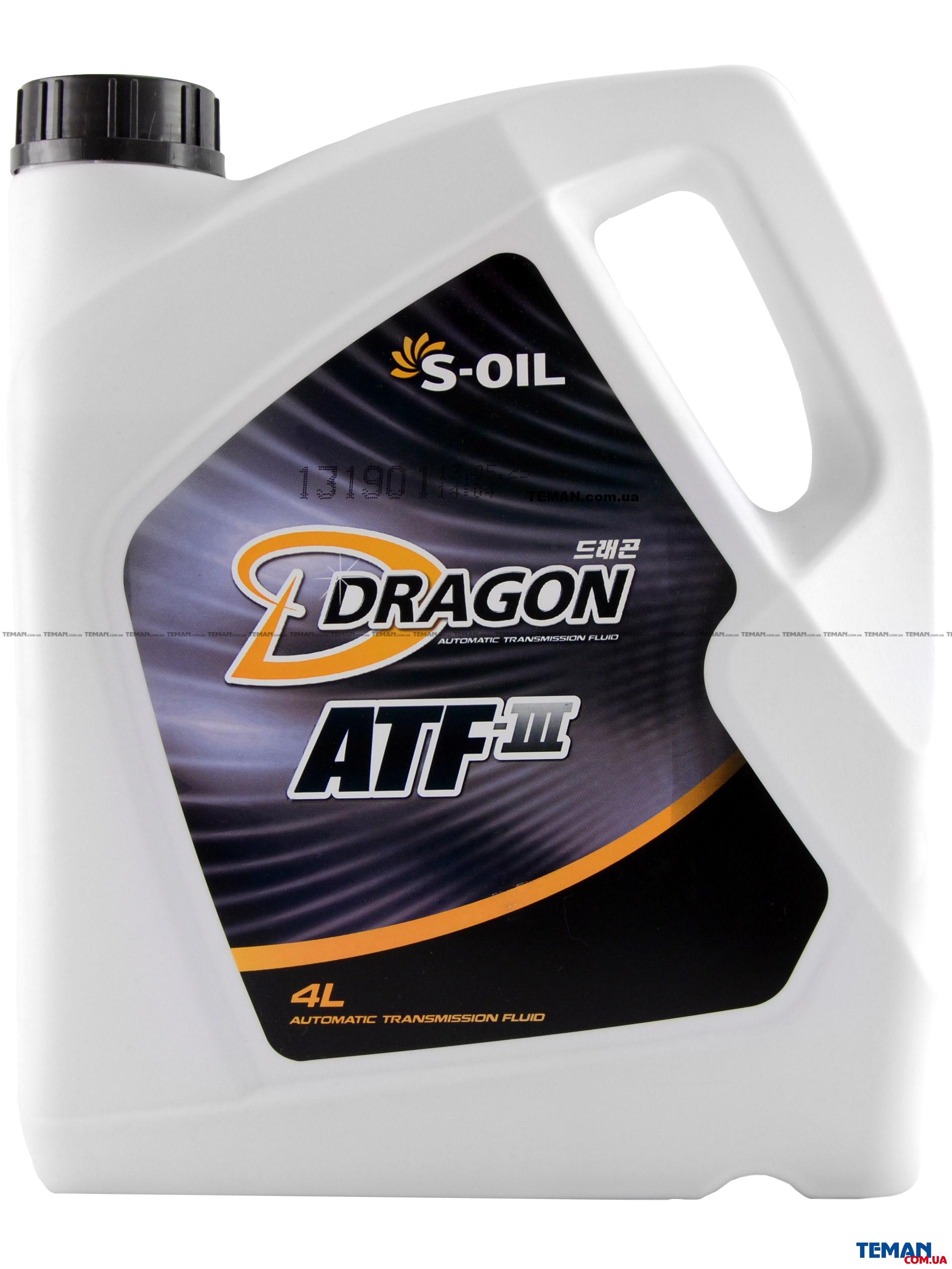 Синтетическое трансмисионное масло DRAGON ATF III,4 л