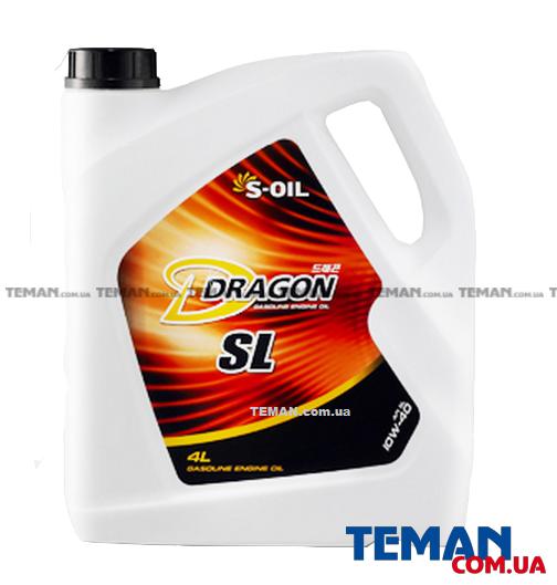 Полусинтетическое моторное масло DRAGON SL 10W40, 4л