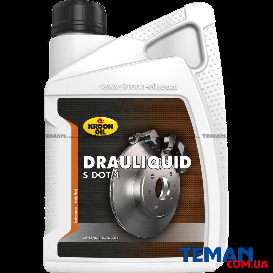 Рідина гальмівна DRAULIQUID-S DOT 4 BRAKEFLUID 1л