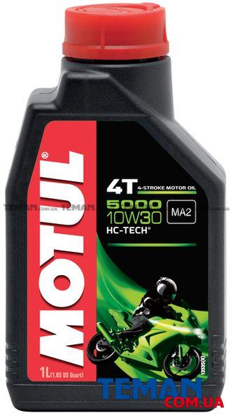 Масло для 4-х тактных двигателей полусинтетическое 5000 4T SAE 10W30, 1 л