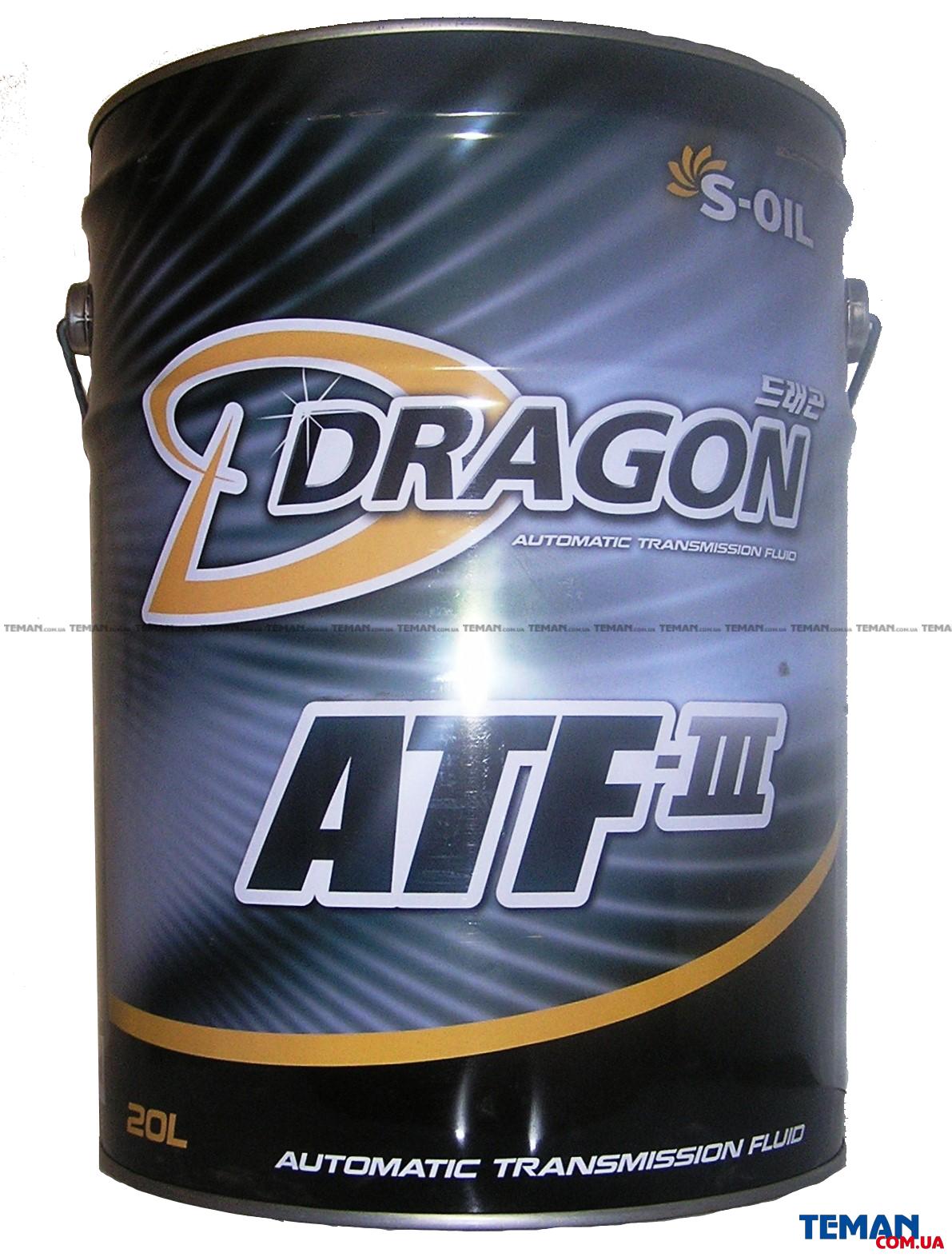 Синтетическое трансмисионное масло DRAGON ATF III, 20 л