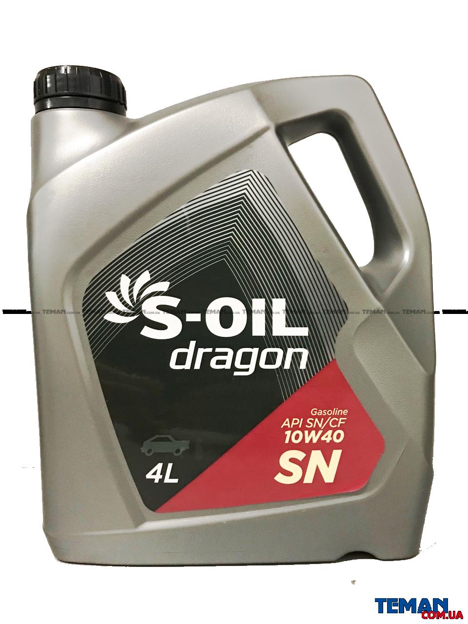 Полусинтетическое моторное масло DRAGON SN 10W40, 4 л