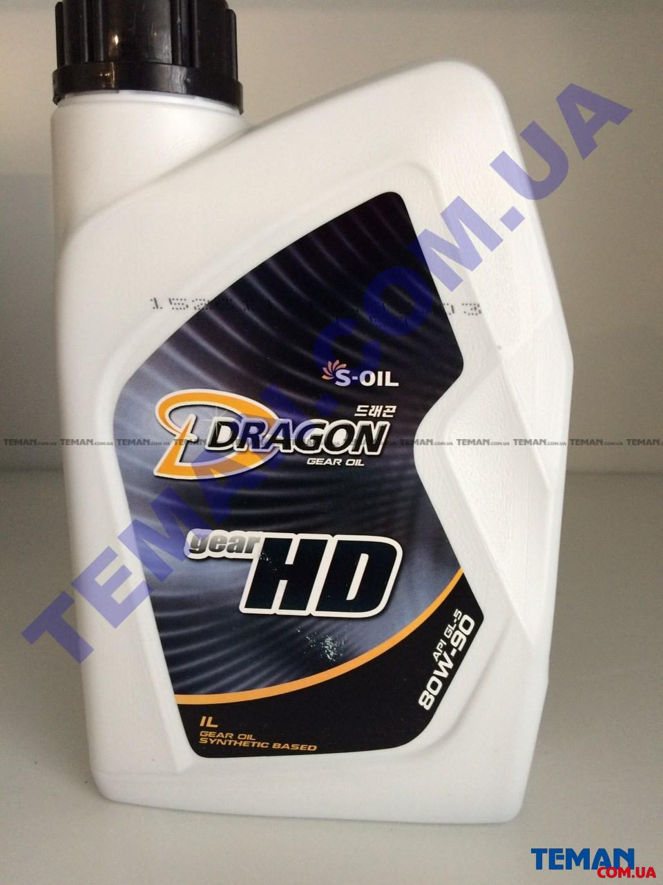 Трансмиссионное масло DRAGON GEAR HD 80W90, 1 л