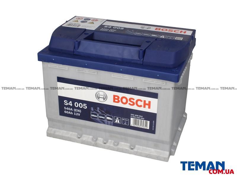 Купить Аккумулятор   60Ah-12v BOSCH (S4005) (242x175x190),R,EN540 (1-й сорт)                               BOSCH 0092S40050 Ауди a3 sportback (8pa)