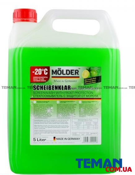 Купить 'MOLDER Scheibenklar Screenwash With Frost Protection LIME 5L, -20*С'MOLDER sch20c51