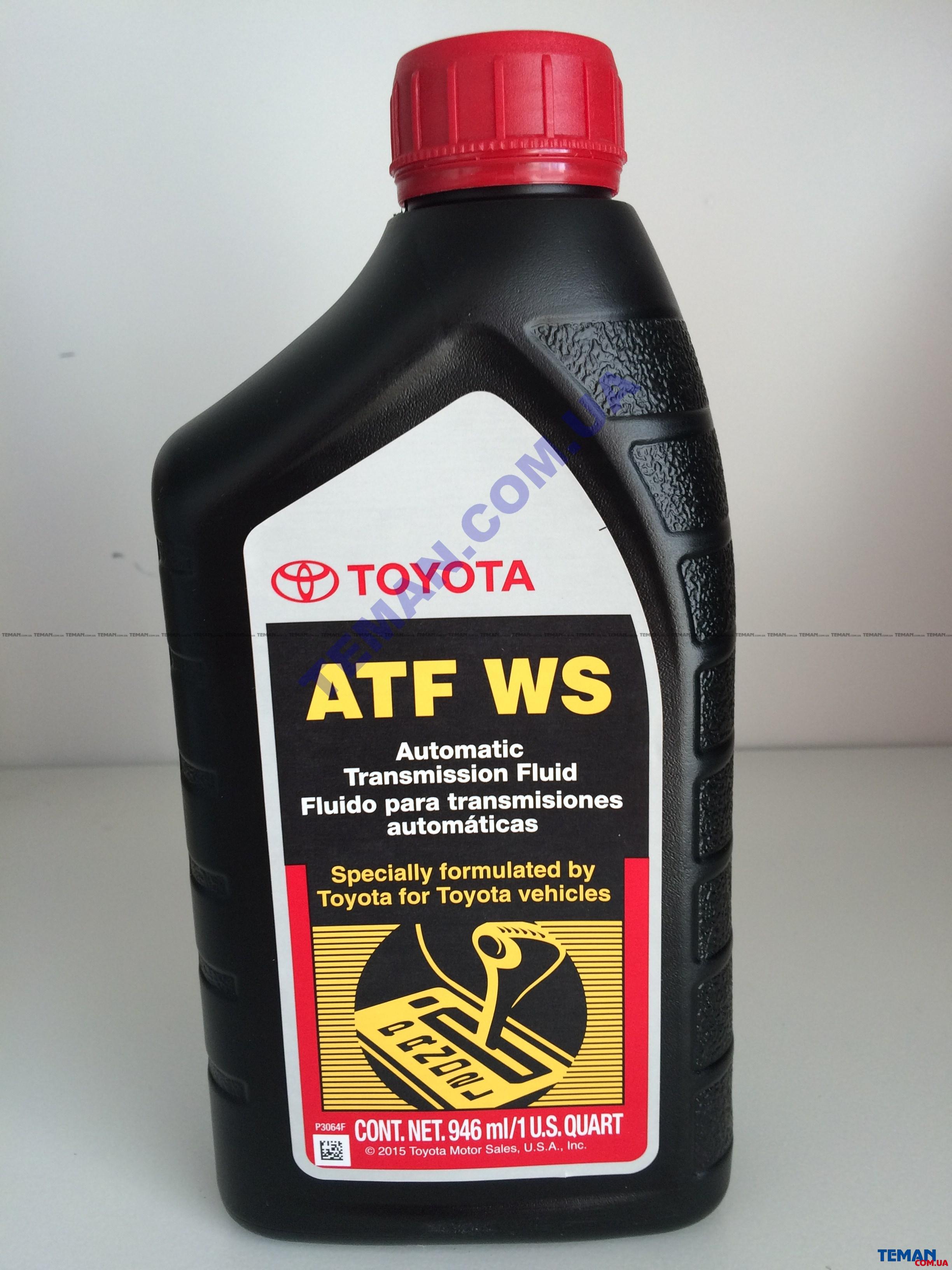 Олива ATF WS 08886-02305, 1qt