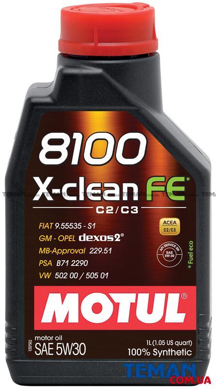Синтетическое моторное масло  8100 X-CLEAN FE 5W30, 1 л