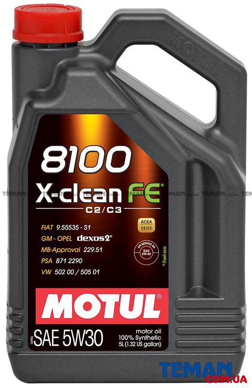 Синтетическое моторное масло  8100 X-CLEAN FE 5W30, 5 л