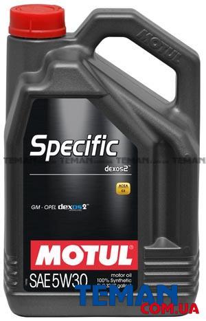 Синтетическое моторное масло SPECIFIC DEXOS2 TM 5W-30, 5 л