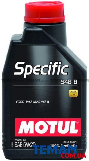 Синтетическое моторное масло SPECIFIC 948B 5W-20, 1 л