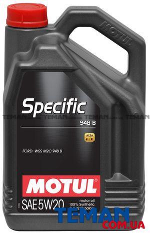Синтетическое моторное масло SPECIFIC 948B 5W-20, 5 л
