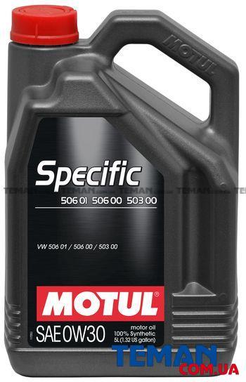 Синтетическое моторное масло SPECIFIC 506 01 - 506 00 - 503 00, 0W-30, 5 л
