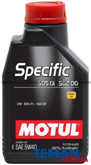 Синтетическое моторное масло SPECIFIC 505 01 - 502 00, 5W-40, 1 л
