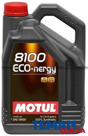 Синтетическое моторное масло 8100 Eco-nergy SAE 0W30, 5 л