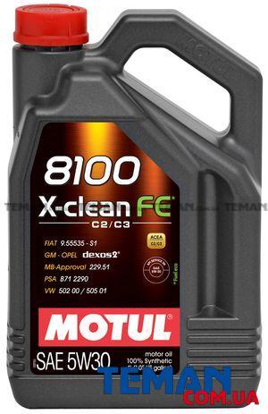 Синтетическое моторное масло  8100 X-CLEAN FE 5W30, 4 л