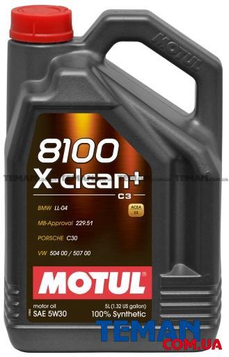 Синтетическое моторное масло 8100 X-CLEAN+ 5W30, 5л