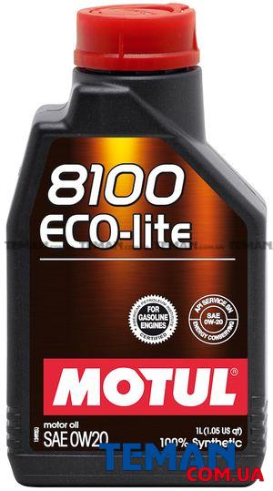 Синтетическое моторное масло 8100 Eco-lite SAE 0W20, 1 л
