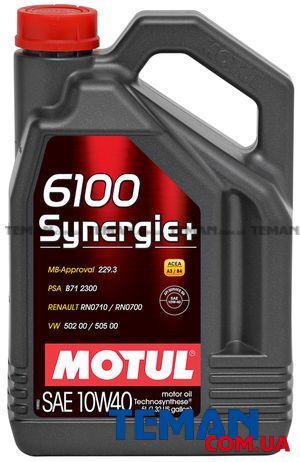 Масло моторное полусинтетическое 6100 Synergie+ 10W-40, 5 л