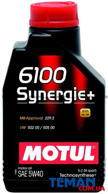 Синтетическое моторное масло 6100 SYNERGIE+ 5W40, 1 л