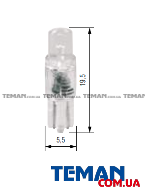 T05 LED 12V 1XSTANDARD LED WHITE WIDE VIEWING INDUSTRIAL