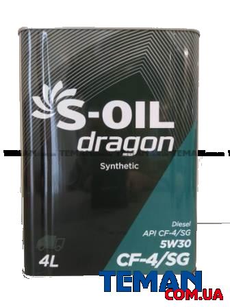 Моторное масло DRAGON 5W30 4л (в железной канистре), 4л
