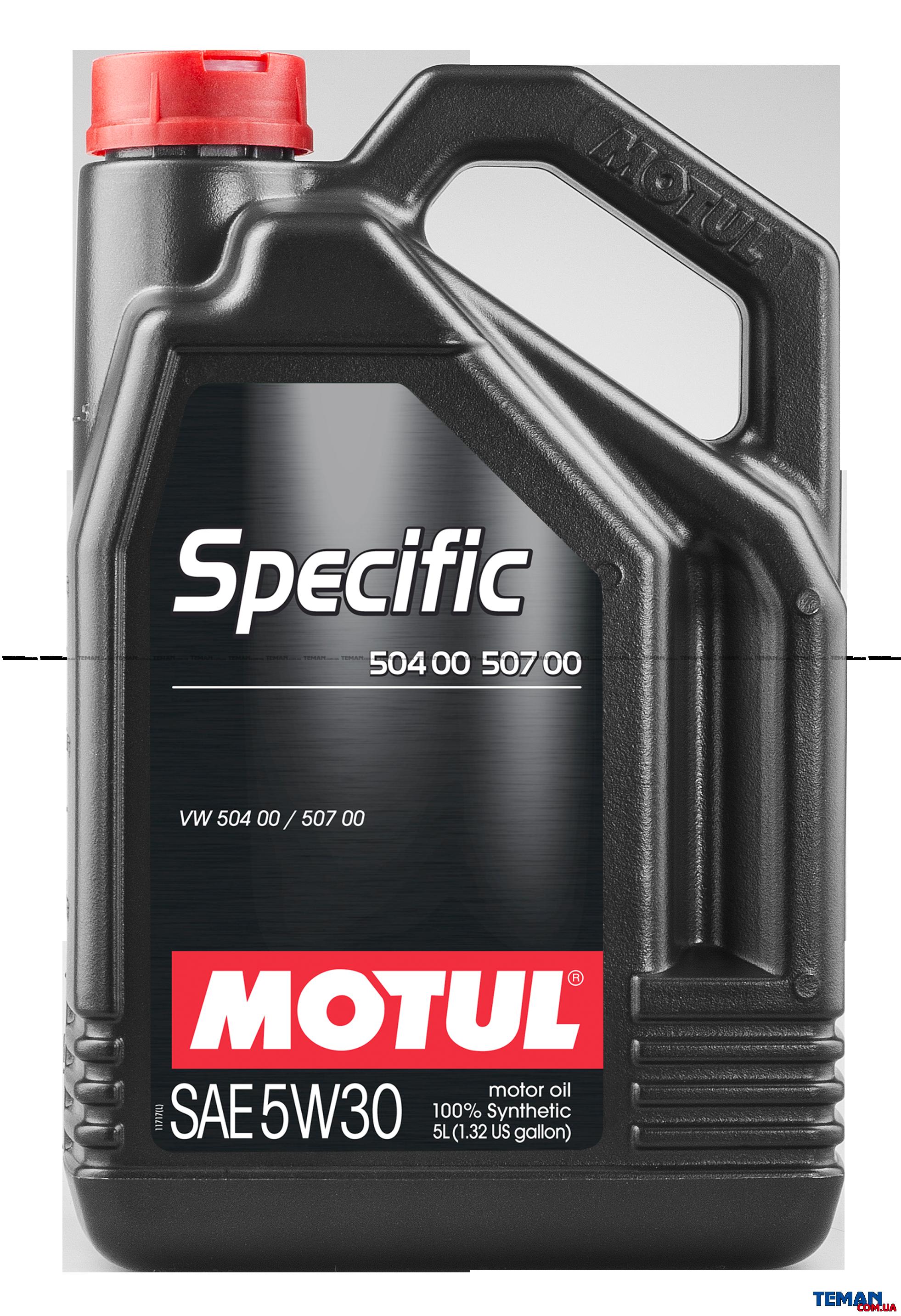 Синтетическое моторное масло SPECIFIC 504 00 - 507 00, 5W-30, 5 л