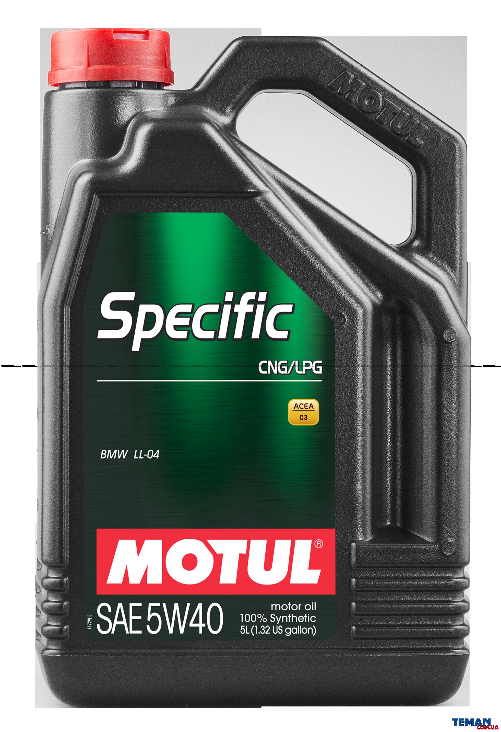 Синтетическое моторное масло SPECIFIC CNG/LPG 5W-40, 5 л