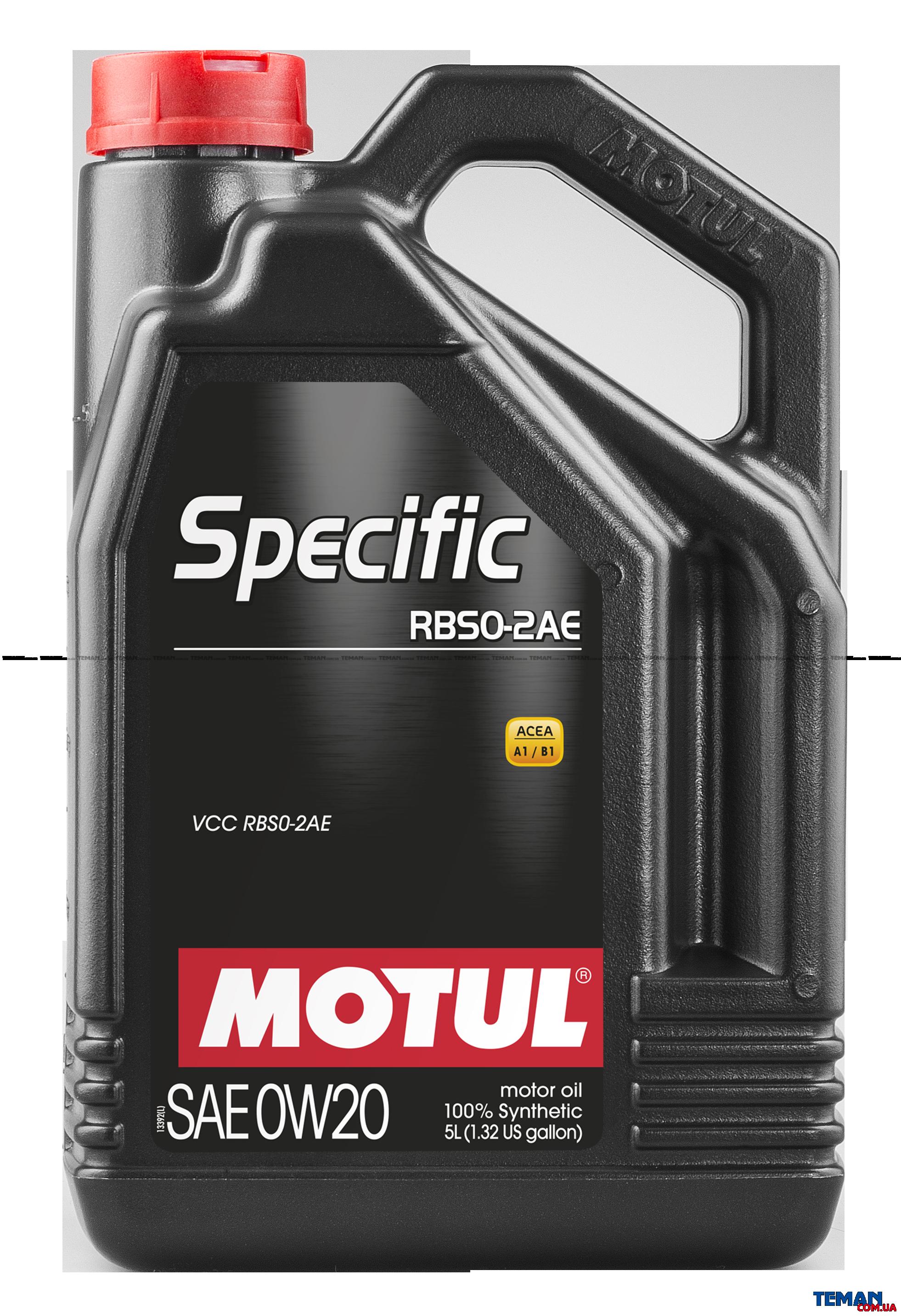 Синтетическое моторное масло SPECIFIC RBS0-2AE 0W-20, 5 л
