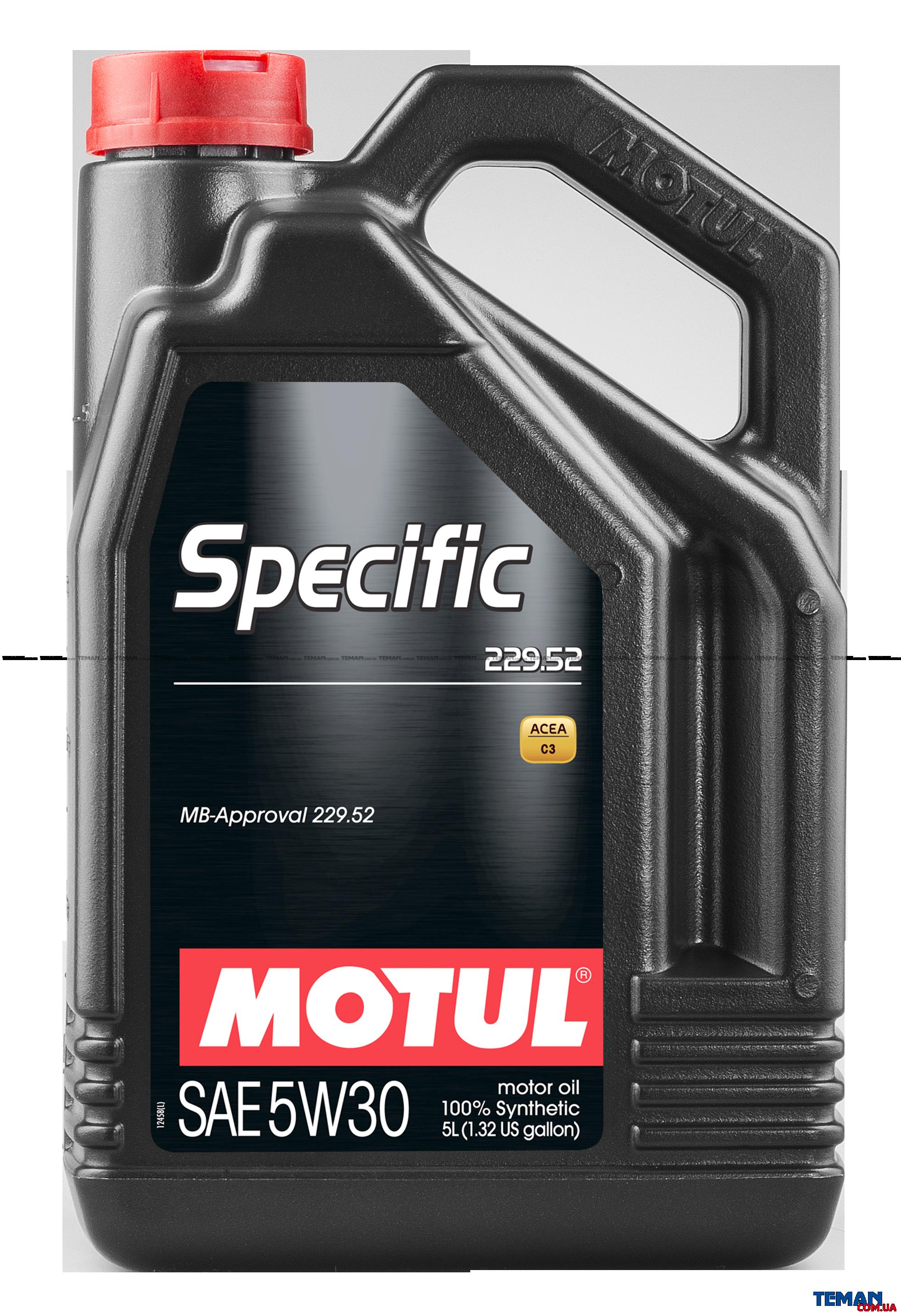 Синтетическое моторное масло SPECIFIC 229.52 5W-30, 5 л