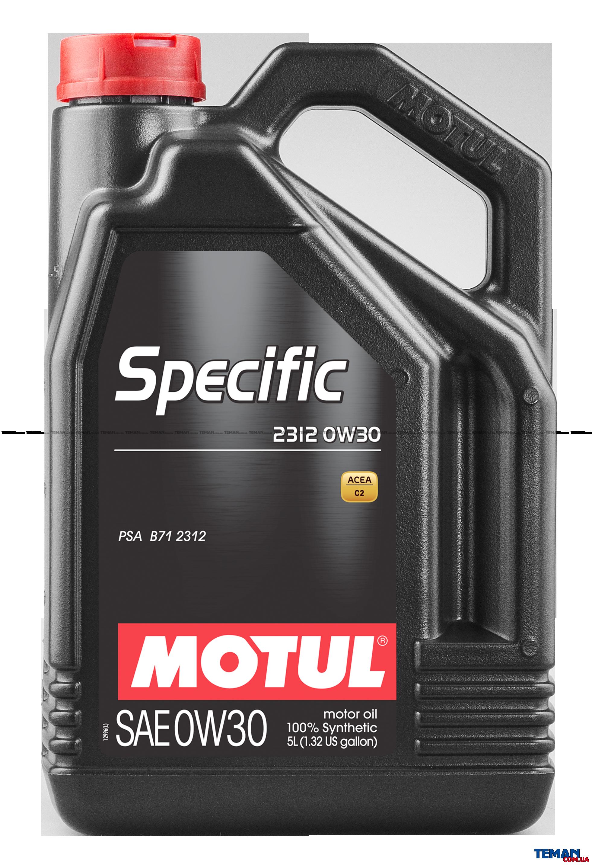Синтетическое моторное масло Specific 2312 SAE 0W30, 5 л