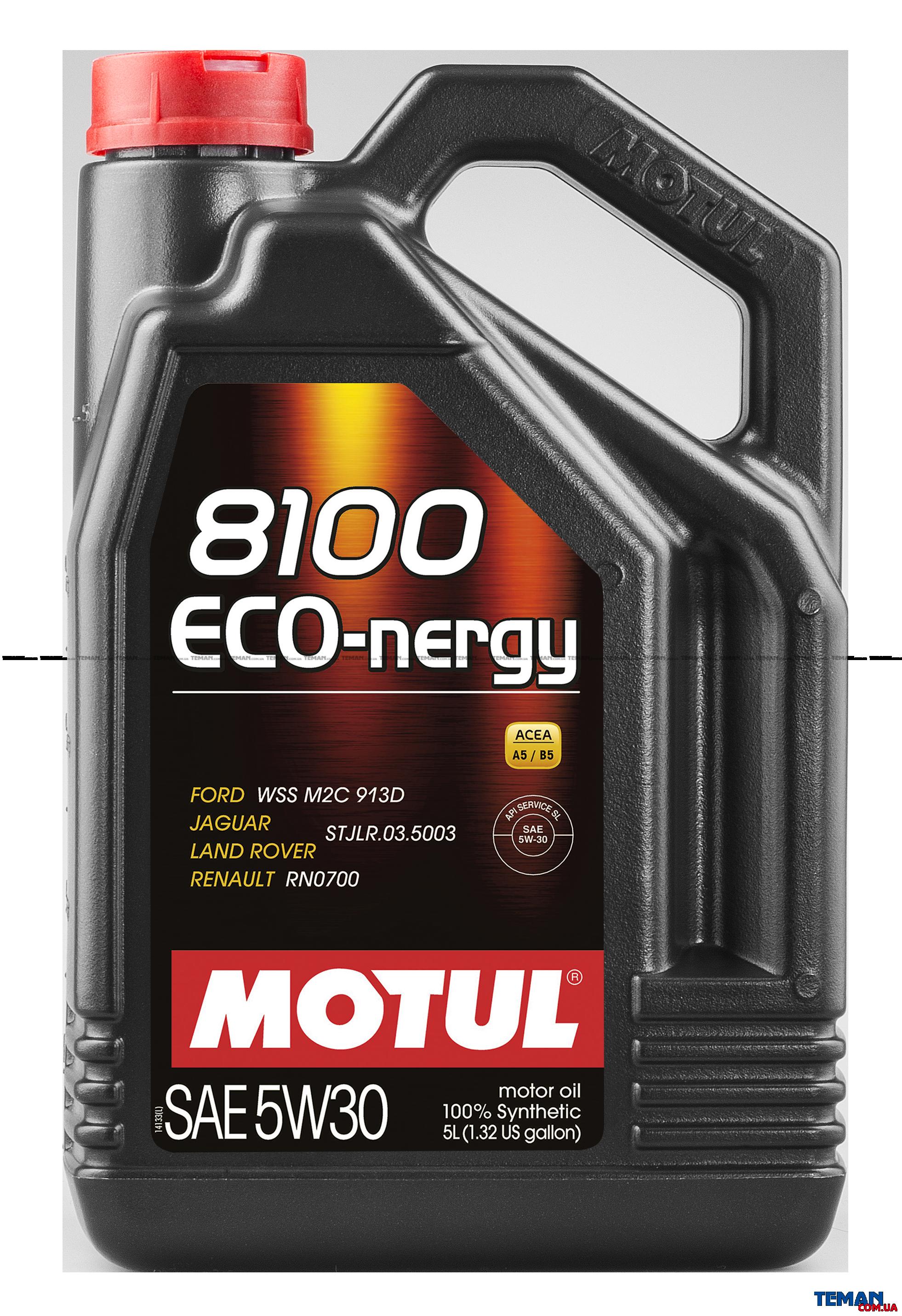 Синтетическое моторное масло 8100 Eco-nergy SAE 5W30, 5 л