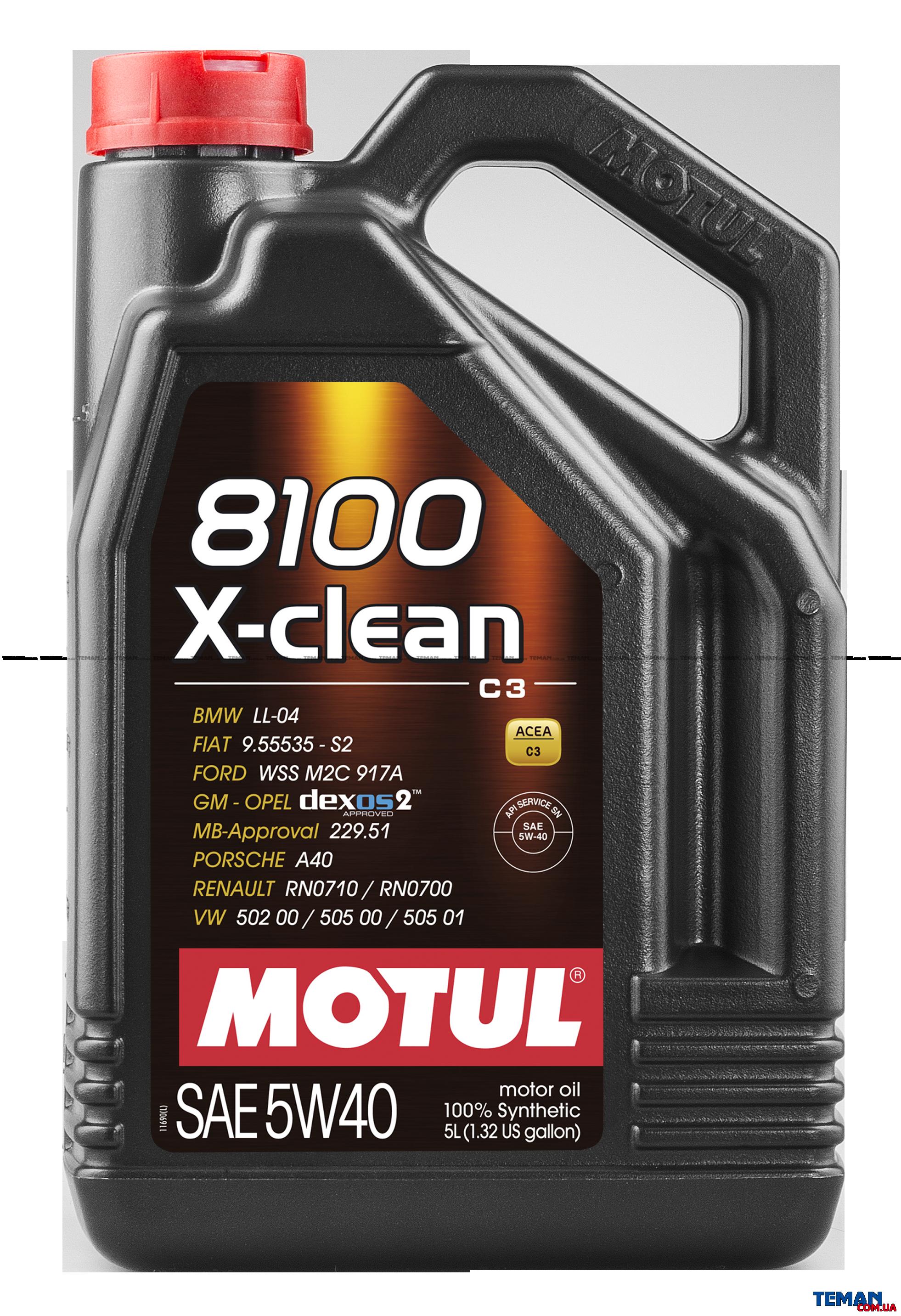 Синтетическое моторное масло 8100 X-clean SAE 5W40, 5 л
