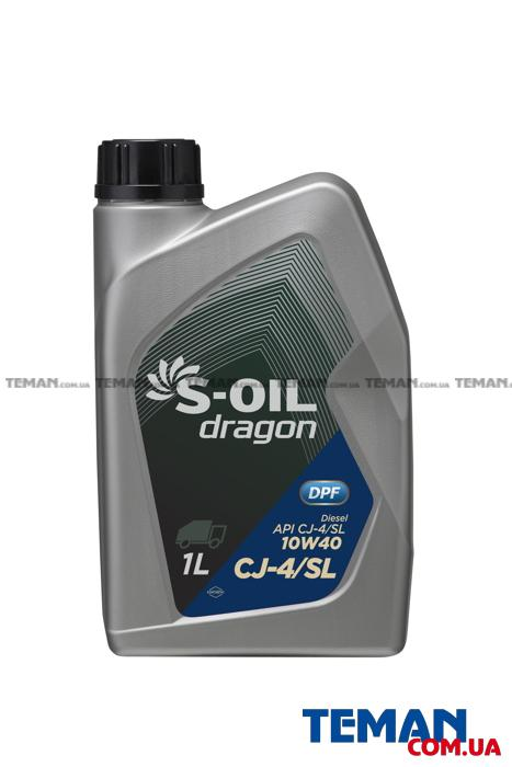 Моторное масло Dragon CJ-4/SL 10W40 , 1л