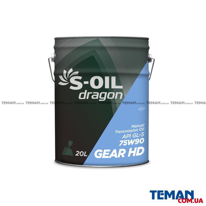 Полусинтетическое трансмиссионное масло DRAGON GEAR HD 75W90, 20 л