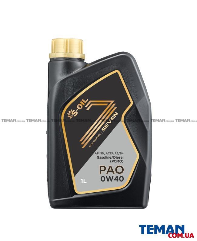 Купить Высококлассное моторное масло Seven PAO A3/B4 0W-40, 1лS-OIL sevenpaoa3b40w401