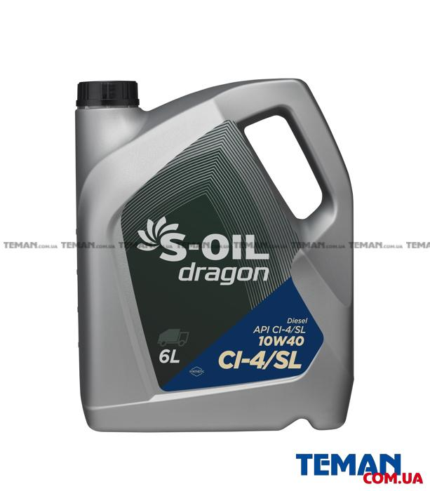 Cинтетическое моторное масло DRAGON CI-4/SL 10W40 6л