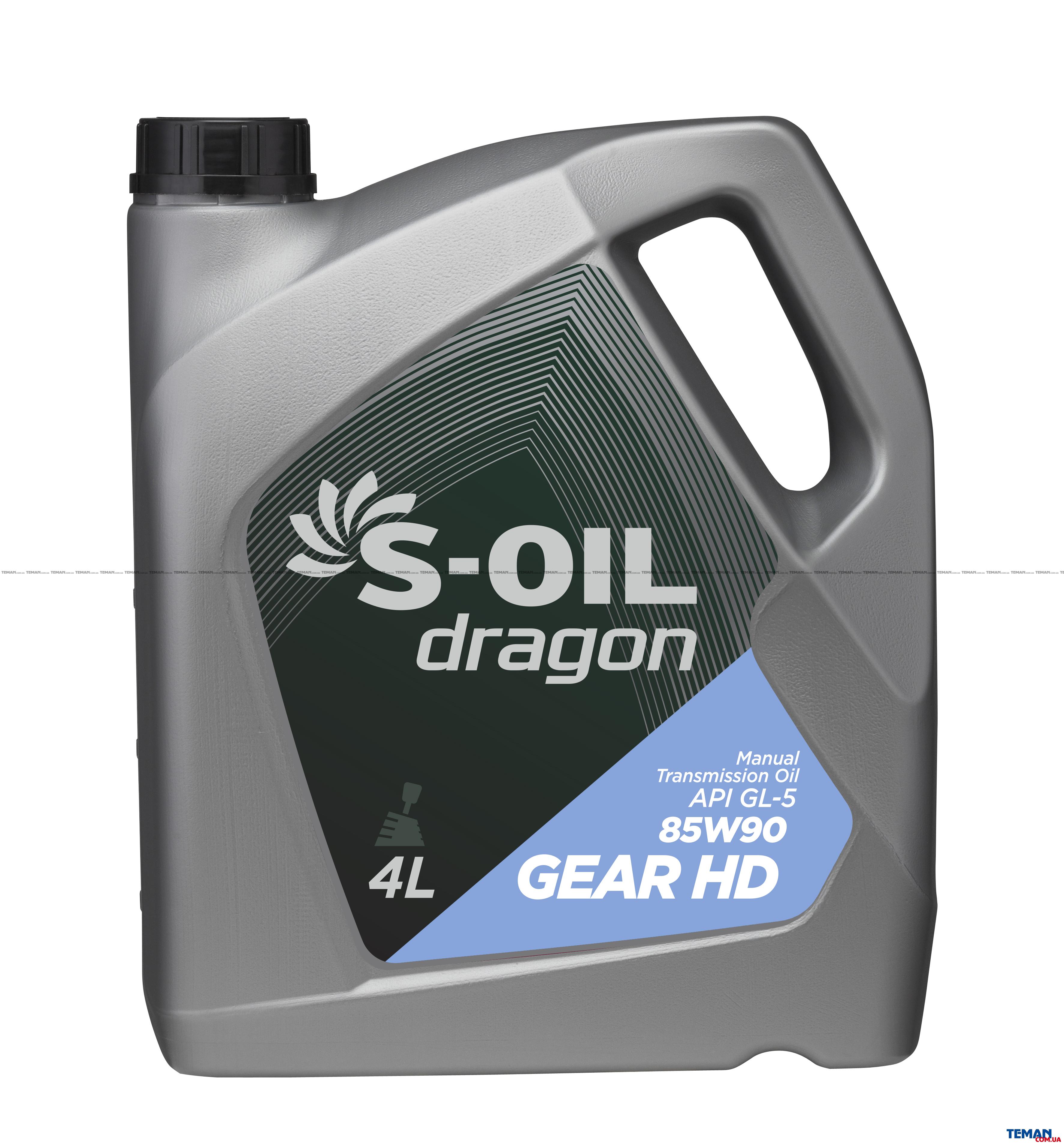 S-OIL DRAGON GEAR HD 85W90 4л трансмиссионное