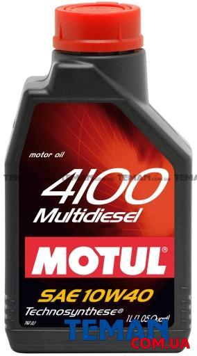 Полусинтетическое масло моторное  4100 Multidiesel SAE 10W40, 1 л