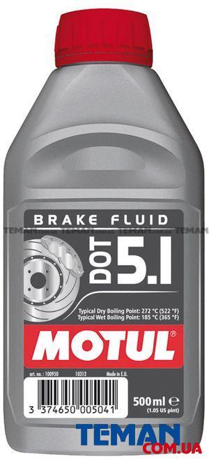 Жидкость для гидравлических тормозных приводов и сцеплений DOT 5.1, 0,5 л