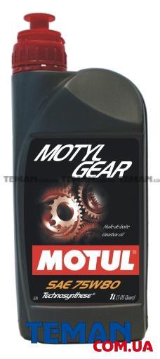 Трансмисионное масло полусинтетическое Motylgear SAE 75W80, 1л