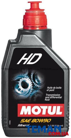 Трансмисионное масло минеральное HD SAE 80W90, 1л