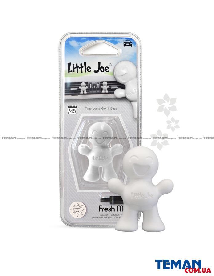Ароматизатор на обдув (блістер) Little Joe FRESH MINT (білий)