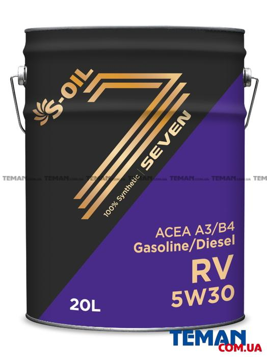 Синтетическое универсальное моторное масло Seven RV 5W-30, 20л