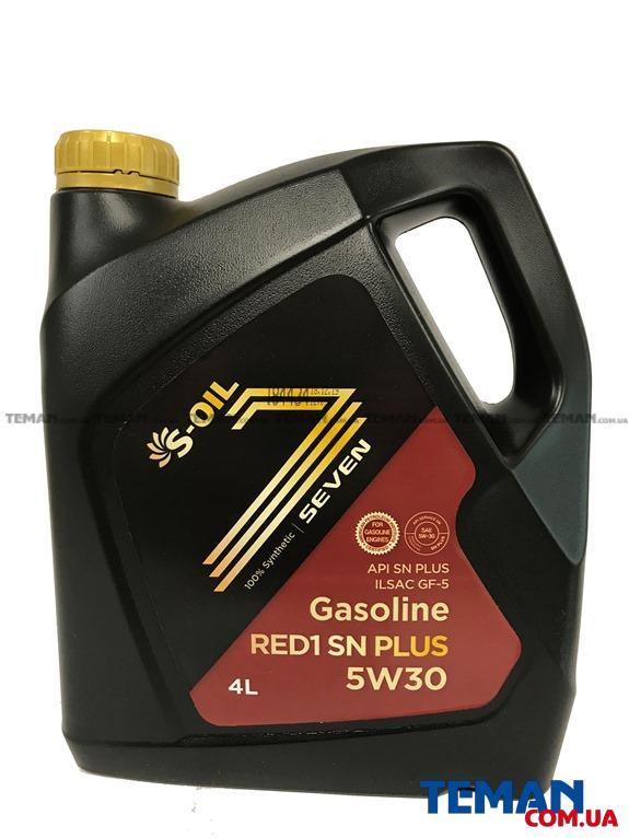 Синтетическое масло для двигателей Seven Red 1 SN Plus 5W30, 4л