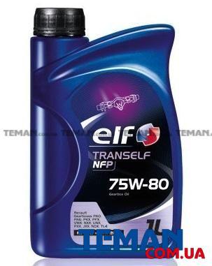 Масло трансмиссионное синтетическое TransElf NFP 75W-80, 1 л