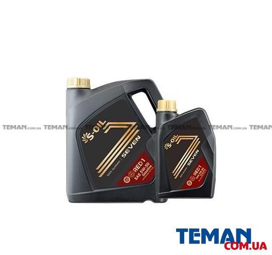 S-OIL SEVEN RED1 5W30 синтетическое, для бензиновых двигателей АКЦИЯ 4л. + 1 л комплект