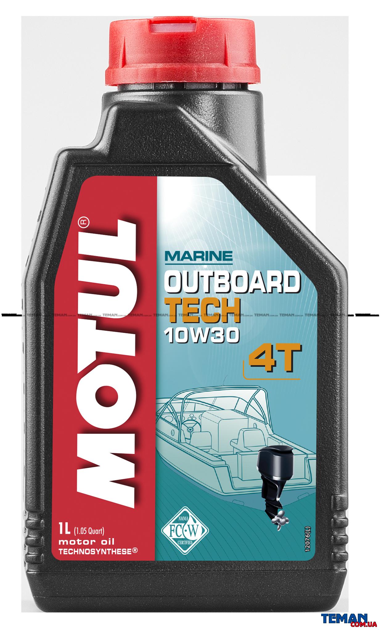 Масло для 4-х тактных бензиновых двигателей Outboard Tech 4T SAE 10W30, 1 л