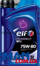 Масло трансмиссионное синтетическое TRANSELF NFJ 75W-80, 1 л