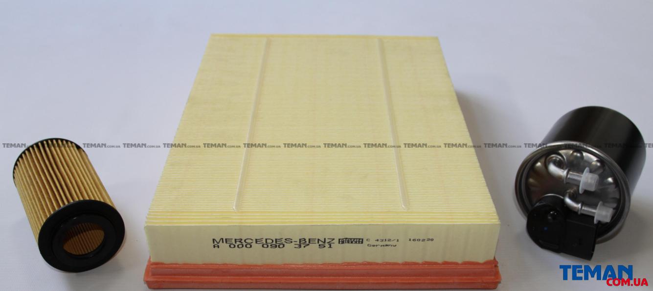 Купить Комплект фильтров (масл.+топливный+возд.) MB Sprinter OM651 2009-MERCEDES BENZ 0001806309
