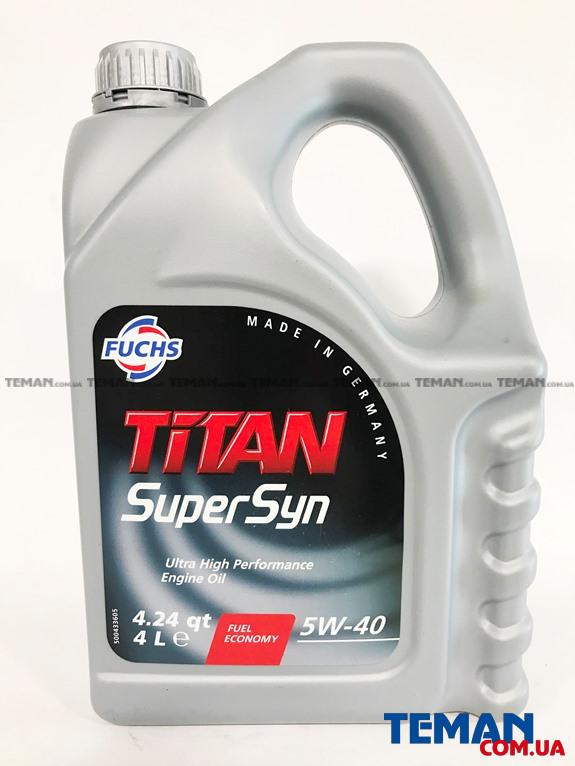 Купить Моторное масло TITAN SUPERSYN 5W-40 4лFUCHS TITANSUPERSYN5W404L